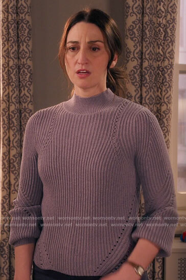 Wickie's black blazer with pink puff sleeves on Girls5eva