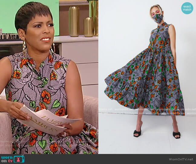 Morgan Dress by Demestik worn by Tamron Hall  on Tamron Hall Show