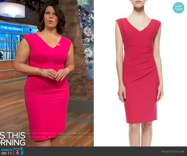 Diane von Furstenberg Bevin Sheath worn by Dana Jacobson  on CBS This Morning