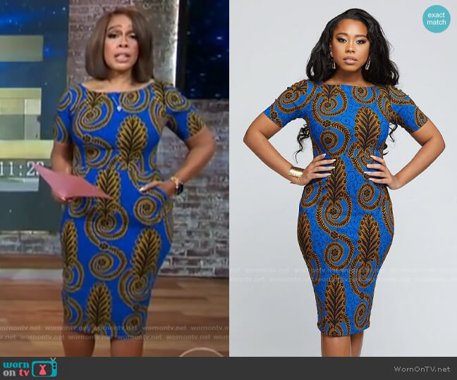 D'iyanu Sabella Dress worn by Gayle King  on CBS Mornings