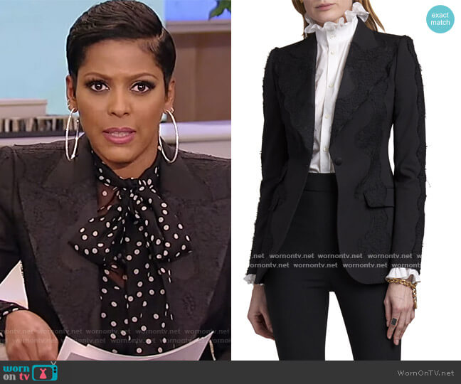 Single-Breasted Lace Blazer by Dolce & Gabbana worn by Tamron Hall  on Tamron Hall Show