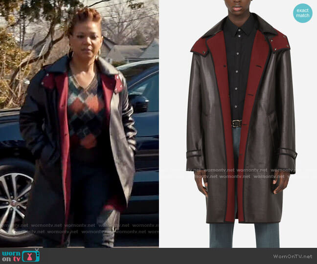 Dolce & Gabbana Coated canvas trench coat with hood worn by Robyn McCall (Queen Latifah) on The Equalizer