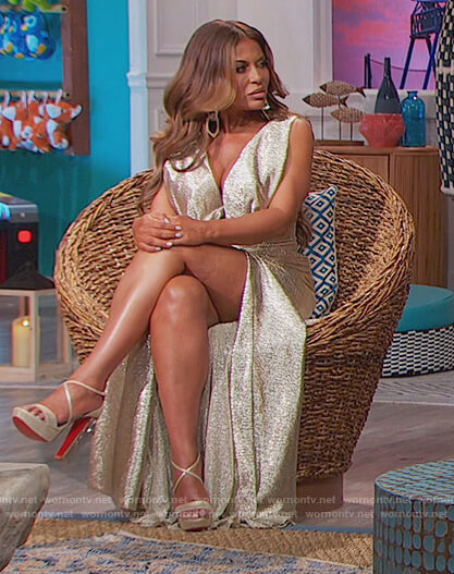 Dolores's reunion dress on The Real Housewives of New Jersey