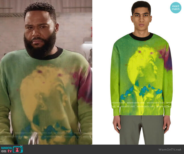 Nameday Sweater by Dries Van Noten worn by Andre Johnson (Anthony Anderson) on Blackish