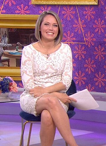 Dylan's white lace mini dress on Today