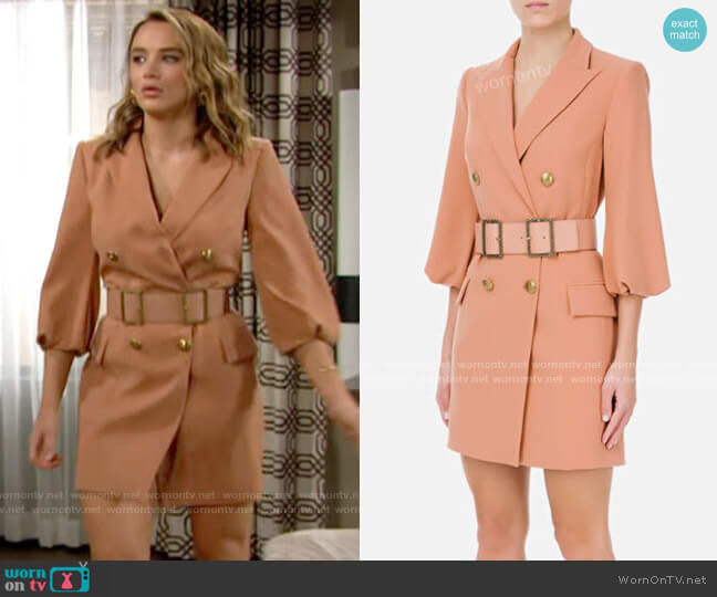 Elisabetta Franchi Blazer Dress worn by Summer Newman (Hunter King) on The Young & the Restless