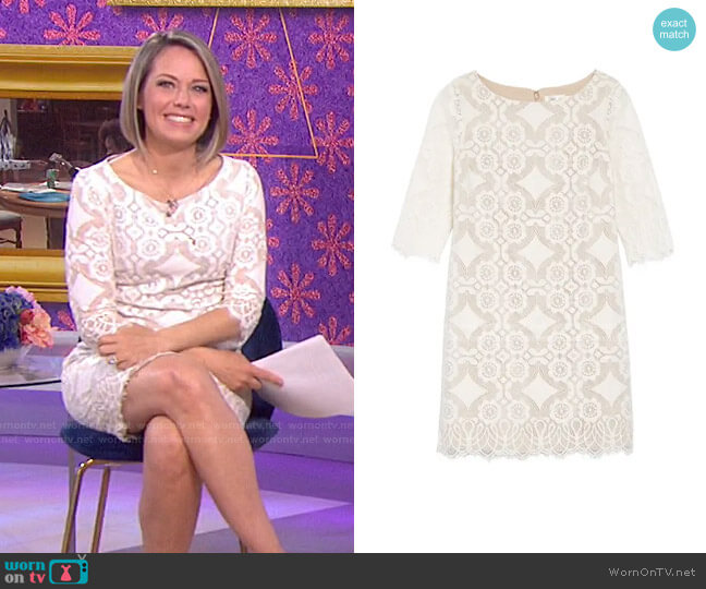 Lace Shift Dress by Eliza J worn by Dylan Dreyer  on Today