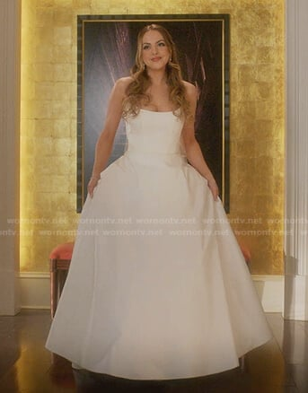 Fallon's wedding dress on Dynasty