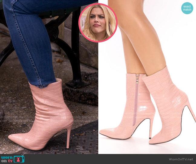 Fashion Nova Crocodile Tears Heeled Boots worn by Summer Dutkowsky (Busy Philipps) on Girls5eva