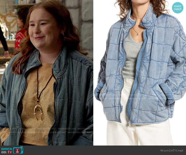 Free People Dolman Sleeve Quilted Jacket worn by Ashlyn (Julia Lester) on High School Musical The Musical The Series
