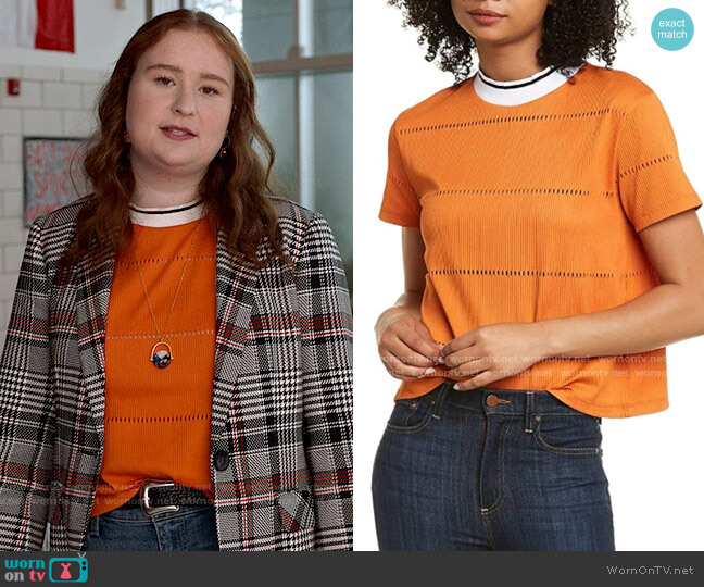 French Connection Rayna Top worn by Ashlyn (Julia Lester) on High School Musical The Musical The Series