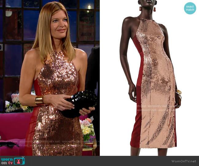 Galvan Sculpted Panel Dress worn by Phyllis Summers (Michelle Stafford) on The Young & the Restless