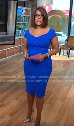 Gayle King's blue dress on CBS This Morning
