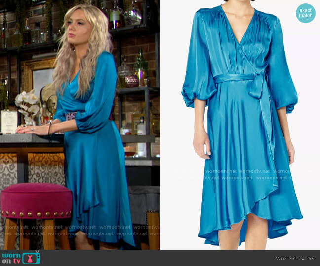 Ghost Aggie Wrap Dress worn by Abby Newman (Melissa Ordway) on The Young & the Restless