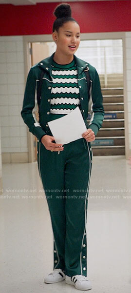 Big Red's green stripe panel hoodie on High School Musical The Musical The Series