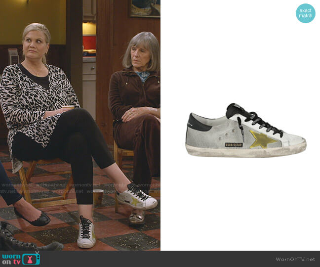 Super Star Sneakers by Golden Goose worn by Tammy Diffendorf (Kristen Johnston) on Mom