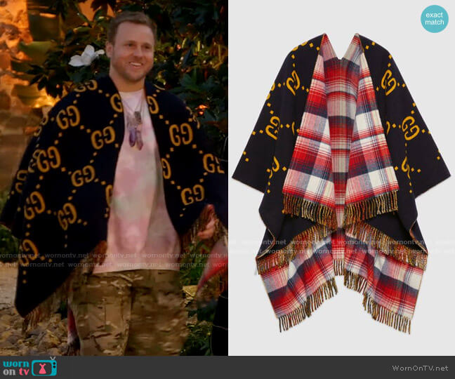 Gucci Reversible GG Poncho worn by Spencer Pratt  on The Hills New Beginnings