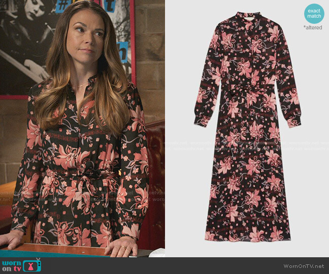 Floral Print Viscose Dress by Gucci worn by Liza Miller (Sutton Foster) on Younger