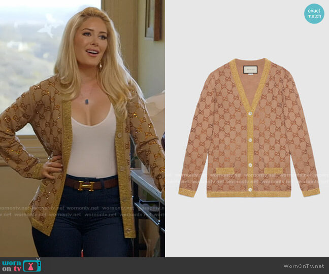 Gucci GG Jacquard Cardigan worn by Heidi Montag  on The Hills New Beginnings