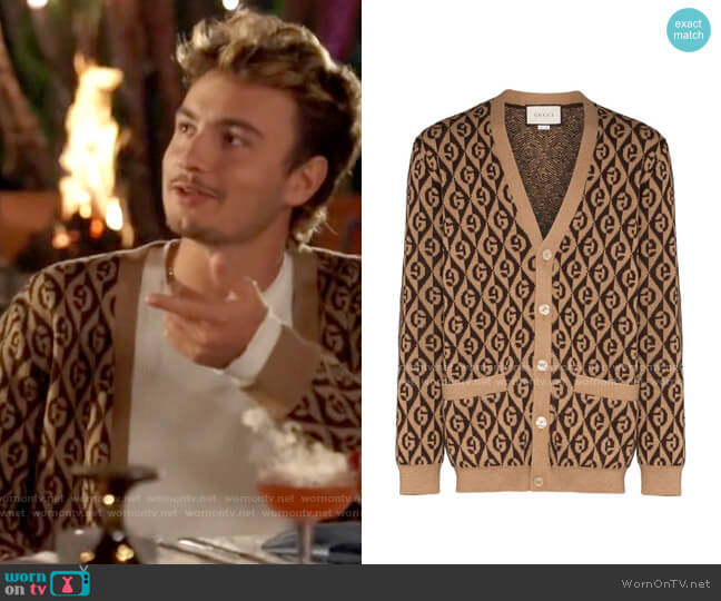 Gucci Rhombus Cardigan worn by Brandon Thomas Lee  on The Hills New Beginnings