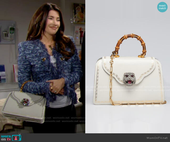 Gucci Thiara Bag worn by Steffy Forrester (Jacqueline MacInnes Wood) on The Bold & the Beautiful