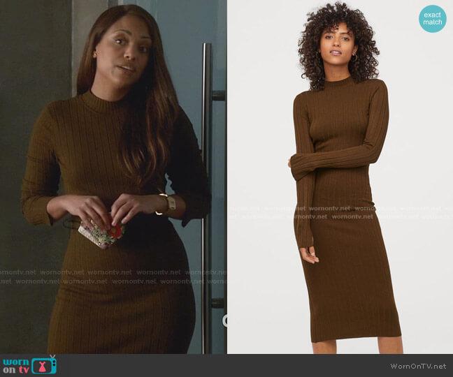Fine-Knit Dress by H&M worn by Danny James (Jaime Lee Kirchner) on Bull