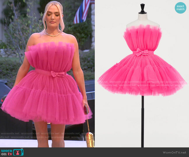Tulle Dress by H&M x Giambattista Valli worn by Erika Jayne  on The Real Housewives of Beverly Hills