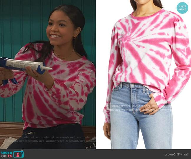 Puff Sleeve Sweatshirt by Halogen worn by Nia Baxter (Navia Robinson) on Ravens Home
