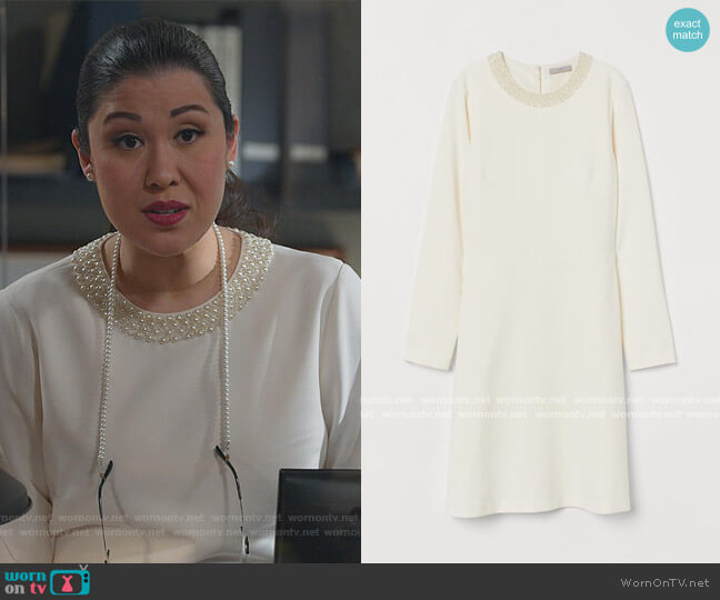 Dress with Pearly Beards by H&M worn by Sherri Kansky (Ruthie Ann Miles) on All Rise