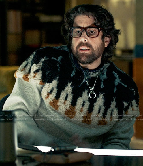 Harry's fur detail sweater on The Equalizer