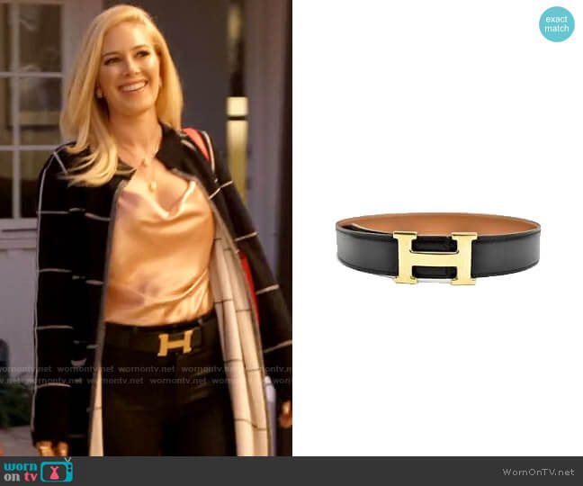 Hermes Constance Belt worn by Heidi Montag  on The Hills New Beginnings