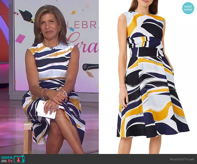 Twitchill Linen Dress by Hobbs London worn by Hoda Kotb  on Today