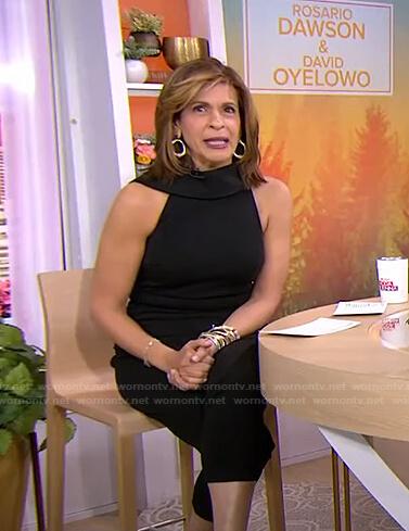 Hoda's black sleeveless jumpsuit on Today
