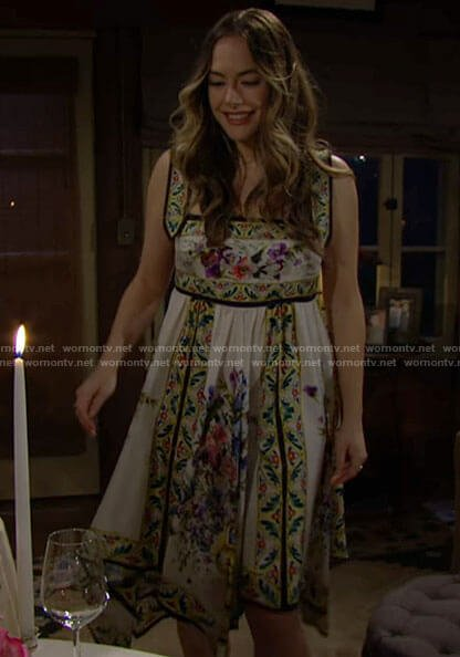 Hope's floral handkerchief dress on The Bold and the Beautiful