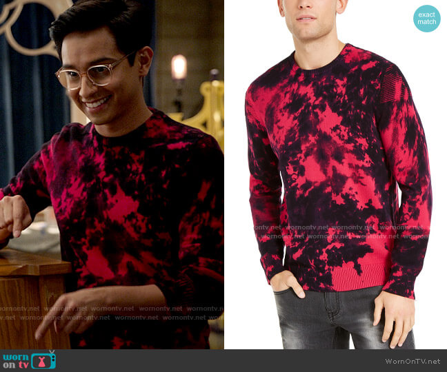 INC International Concepts Gnover Tie Dye Sweater worn by Carlos Rodriguez (Frankie A. Rodriguez) on High School Musical The Musical The Series