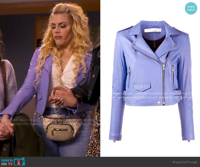 IRO Ashville Jacket worn by Summer Dutkowsky (Busy Philipps) on Girls5eva
