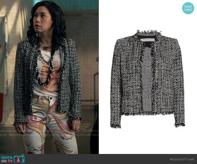 IRO Shavani Metallic Tweed Jacket worn by Melody Bayani (Liza Lapira) on The Equalizer