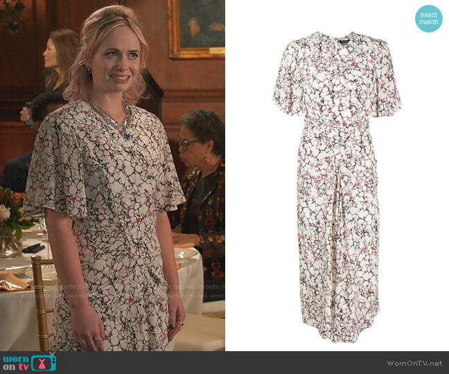 Berwick Dress by Isabel Marant worn by Caitlin Miller (Tessa Albertson) on Younger