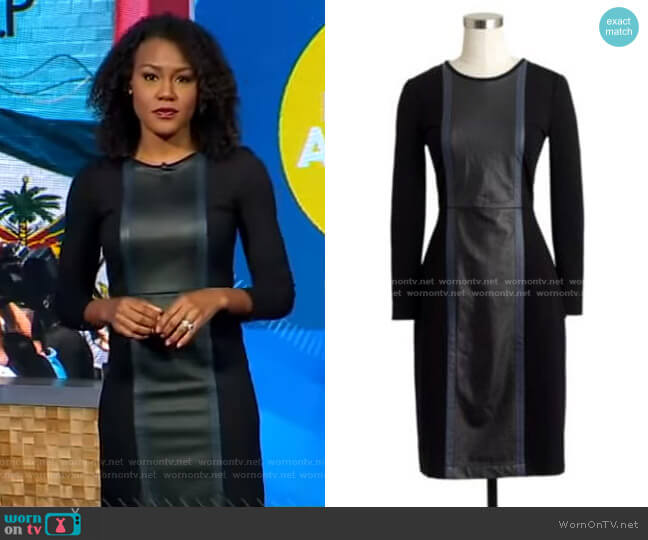 Leather Panel Dress by J.Crew worn by Janai Norman  on Good Morning America