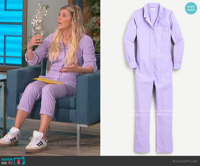 Foundry chino coveralls by J. Crew worn by Amanda Kloots  on The Talk