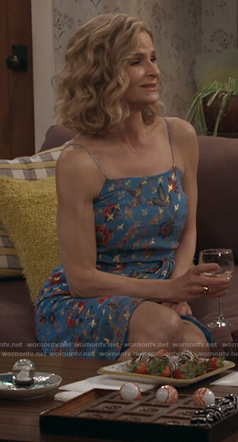 Jean's blue floral dress on Call Your Mother