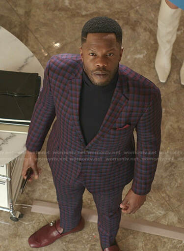 Jeff's checked suit on Dynasty