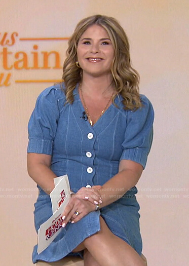 Jenna's blue button front dress on Today