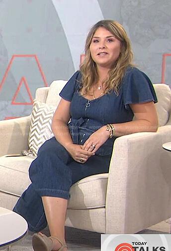 Jenna's flutter sleeve denim jumpsuit on Today