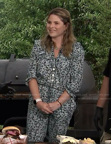 Jenna's printed button front jumpsuit on Today