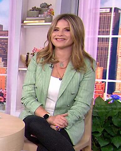 Jenna's green striped blazer on Today
