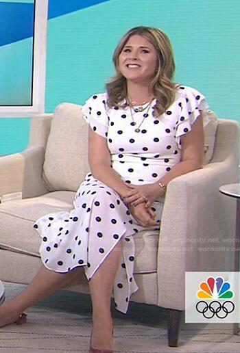 Jenna's white polka dot dress on Today