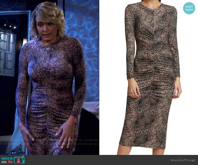 Aja Dress by Joie worn by Nicole Walker (Arianne Zucker) on Days of our Lives
