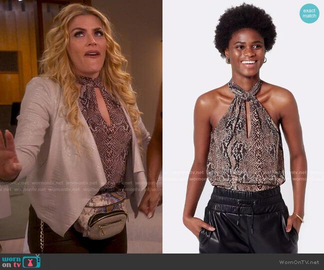 Joie Cedra Python Top worn by Summer Dutkowsky (Busy Philipps) on Girls5eva