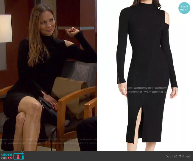Aurora Ribbed Cable Dress by Jonathan Simkhai worn by Ava Vitali (Tamara Braun ) on Days of our Lives